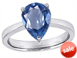 Original Star K™ Large 11x8 Pear Shape Solitaire Engagement Ring with Simulated Aquamarine