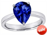 Original Star K™ Large 11x8 Pear Shape Solitaire Engagement Ring with Created Sapphire style: 303806