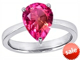 Original Star K™ Large 11x8 Pear Shape Solitaire Engagement Ring with Created Pink Sapphire