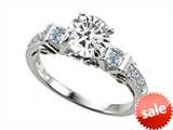 Original Star K™ Round 7mm Genuine White Topaz Engagement Ring