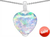 Original Star K™ Heart Shape Created Opal Pendant style: 303849