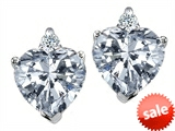 Original Star K™ 7mm Heart Shape White Topaz Earrings