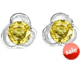 Original Star K™ Round 6mm Simulated Yellow Sapphire Flower Earrings Studs style: 303911