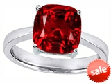 Original Star K™ Large 10mm Cushion Cut Solitaire Engagement Ring with Created Ruby style: 303993