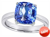 Original Star K™ Large 10mm Cushion Cut Solitaire Engagement Ring With Simulated Blue Topaz