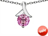 Original Star K™ Round 7mm Pendant with Created Pink Sapphire