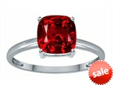 Tommaso Design™ Created Ruby 7mm Cushion Cut Solitaire Engagement Ring style: 304104