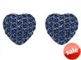 Original Star K™ Small Puffed Heart Love Earrings with Created Sapphire