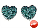 Original Star K™ Heart Shape Love Earrings with Simulated Emerald style: 304159