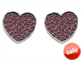 Original Star K™ Heart Shape Love Earrings with Created Ruby