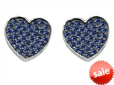 Original Star K™ Heart Shape Love Earrings with Created Sapphire style: 304162