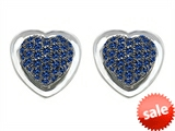 Original Star K™ Heart Shape Love Earrings with Created Sapphire style: 304203