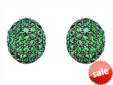 Original Star K™ Oval Puffed Earrings with Simulated Emerald