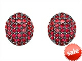 Original Star K™ Oval Puffed Earrings with Created Ruby