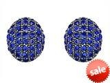 Original Star K™ Oval Puffed Earrings with Created Sapphire