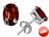 Original Star K™ Classic Oval 7x5mm Earrings Studs with Genuine Garnet style: 304335
