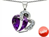 Original Star K™ Heart Shape 12mm Simulated Amethyst Pendant