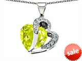 Original Star K™ Heart Shape 12mm Simulated Lemon Quartz Pendant style: 304366