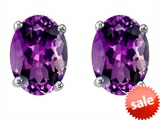 Original Star K™ Oval 8x6mm Simulated Amethyst Earrings Studs style: 304367