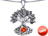 Celtic Love by Kelly Tree Of Life Good Luck Pendant With 7mm Round Simulated Mexican Fire Opal
