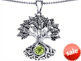 Celtic Love by Kelly Tree Of Life Good Luck Pendant With 7mm Round Simulated Peridot