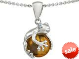 Original Star K™ Frog Pendant With 10mm Simulated Citrine Ball style: 304689