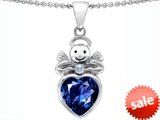 Original Star K™ Love Angel Pendant with 10mm Created Sapphire Heart style: 304706
