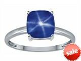 Tommaso Design™ Created Star Sapphire 7mm Cushion Cut Solitaire Engagement Ring style: 304710