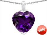 Original Star K™ 10mm Heart Shaped Simulated Amethyst Pendant style: 304783