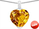 Original Star K™ 10mm Heart Shaped Simulated Citrine Pendant style: 304785