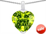 Original Star K™ 10mm Heart Shaped Simulated Peridot Pendant