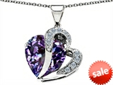 Original Star K™ Heart Shape 12mm Simulated Alexandrite Pendant