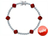 Original Star K™ Classic Cushion Cut 7mm Created Ruby Tennis Bracelet style: 304914