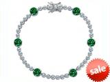 Original Star K™ Classic Round 6mm Simulated Green Tennis Bracelet style: 304923