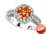 Original Star K™ 7mm Round Simulated Mexican Fire Opal Engagement Ring style: 304971
