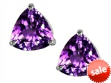 Original Star K™ Trillion 7mm Simulated Amethyst Earrings Studs style: 304991