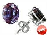 Original Star K™ Oval 8x6mm Simulated Alexandrite Earrings Studs style: 304998