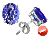 Original Star K™ Oval 8x6mm Simulated Tanzanite Earrings Studs style: 305002