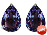 Original Star K™ Pear Shape 9x7mm Simulated Alexandrite Earrings Studs style: 305004
