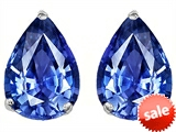 Original Star K™ Pear Shape 9x7mm Simulated Tanzanite Earring Studs