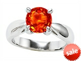 Original Star K™ 7mm Round Simulated Mexican Fire Opal Engagement Ring