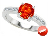 Original Star K™ Round 7mm Simulated Mexican Fire Opal Engagement Ring style: 305041