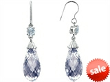 Original Star K™ Briolette Drop Cut Cubic Zirconia Hanging Hook Chandelier Earrings style: 305075