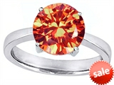 Original Star K™ Large Solitaire Big Stone Ring with 10mm Round Simulated Mexican Fire Opal style: 305082
