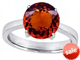 Original Star K™ Large Solitaire Big Stone Ring With 10mm Round Simulated Garnet style: 305083