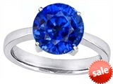 Original Star K™ Large Solitaire Big Stone Ring with 10mm Round Created Sapphire style: 305087