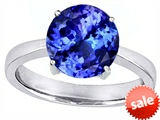Original Star K™ Large Solitaire Big Stone Ring With 10mm Round Simulated Tanzanite