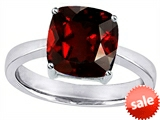 Original Star K™ Large 10mm Cushion Cut Solitaire Engagement Ring With Simulated Garnet