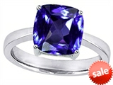Original Star K™ Large 10mm Cushion Cut Solitaire Engagement Ring With Simulated Tanzanite style: 305121