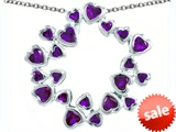 Original Star K™ Large Circle Of Love Pendant With 20 Simulated Amethyst Hearts style: 305148